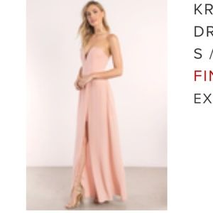 Strapless maxi dress with slit. Size small